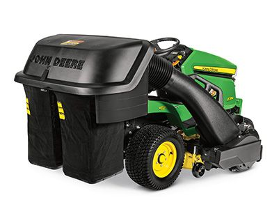 John Deere X384 lawn tractor with material collection system