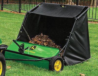 John Deere tow-behind lawn sweeper