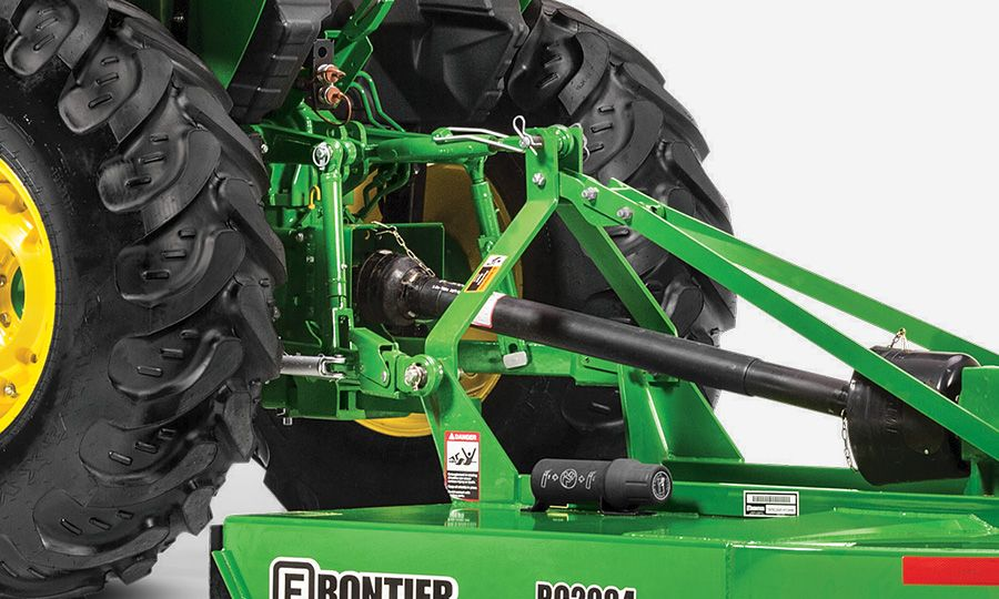 Convertible Category 1 and 2 hitch with telescoping draft links