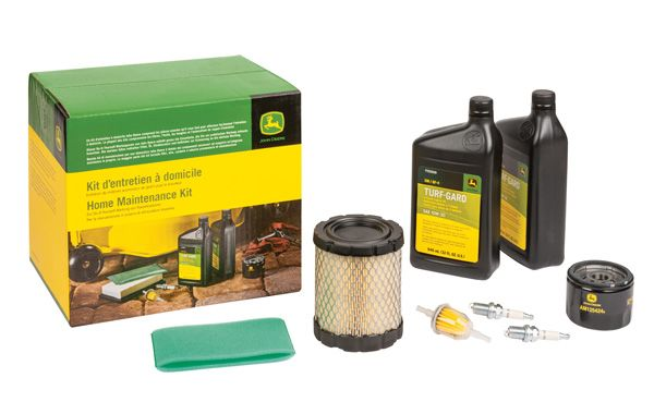 Parts included in a John Deere Home Maintenance Kit