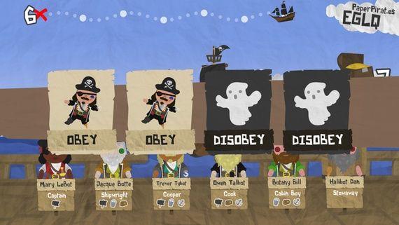 Coverbilde fra spillet Paper pirates.