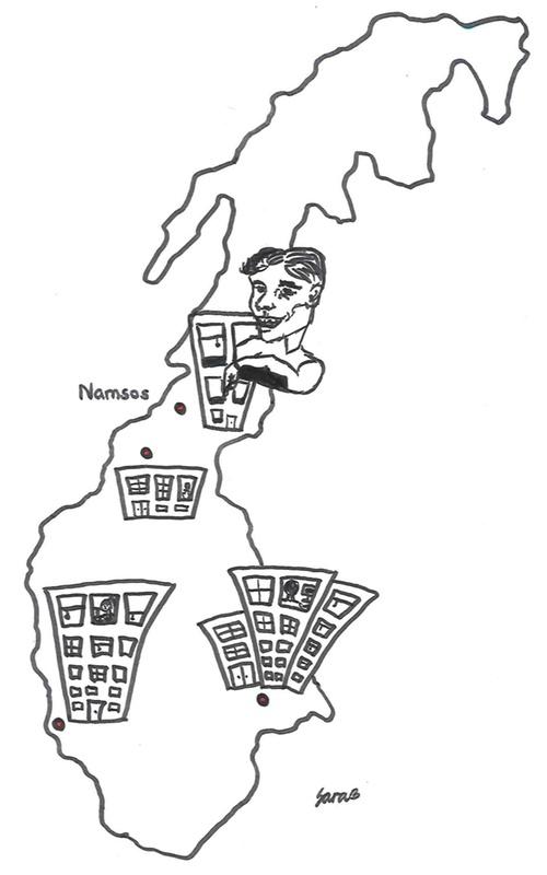Håvard i Namsos på norgeskartet