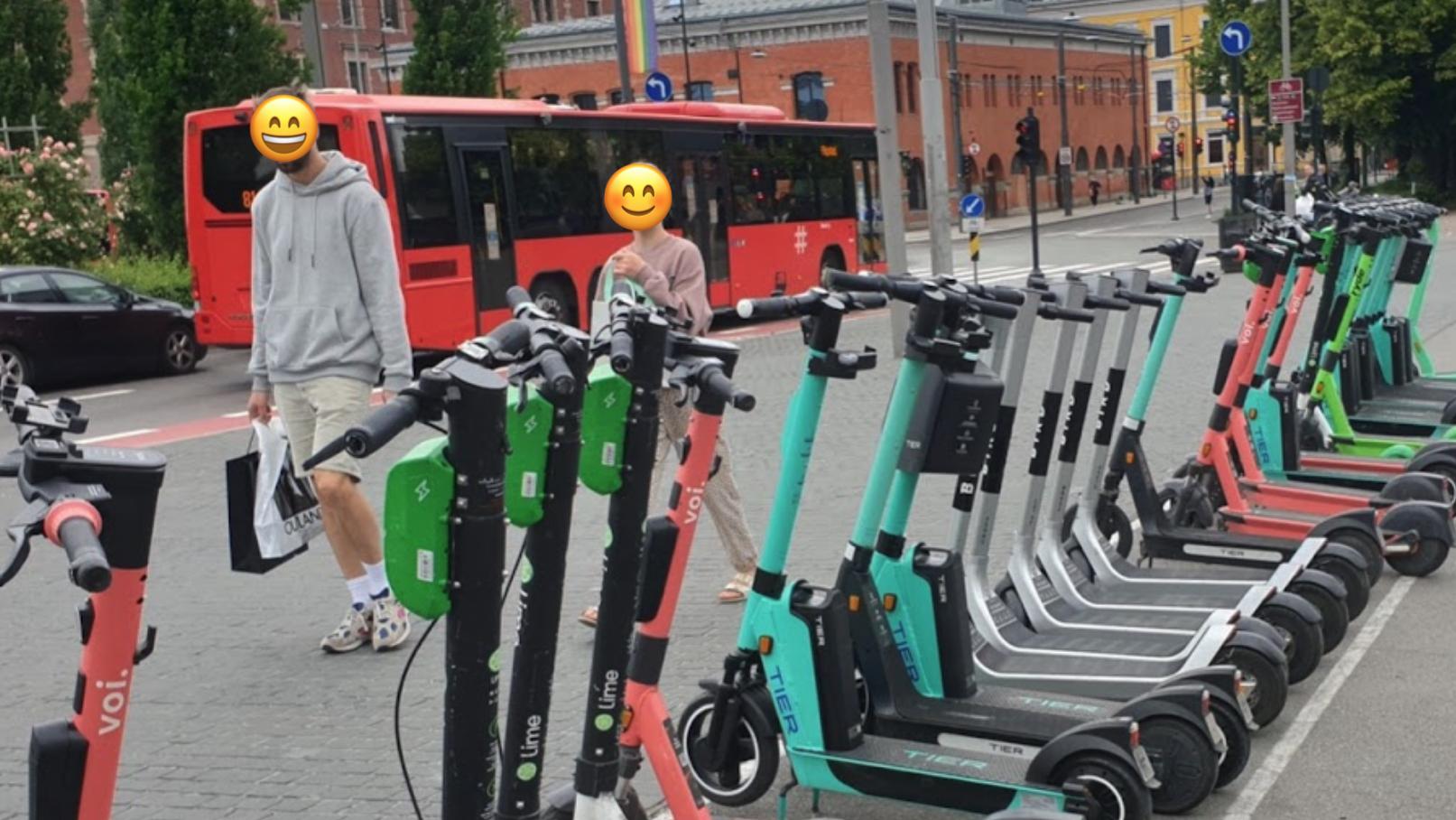 El-sparkesykler i Oslo sentrum