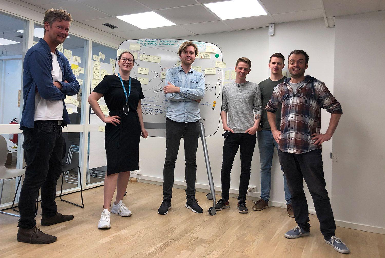 Sabima-teamet på prosjektrommet