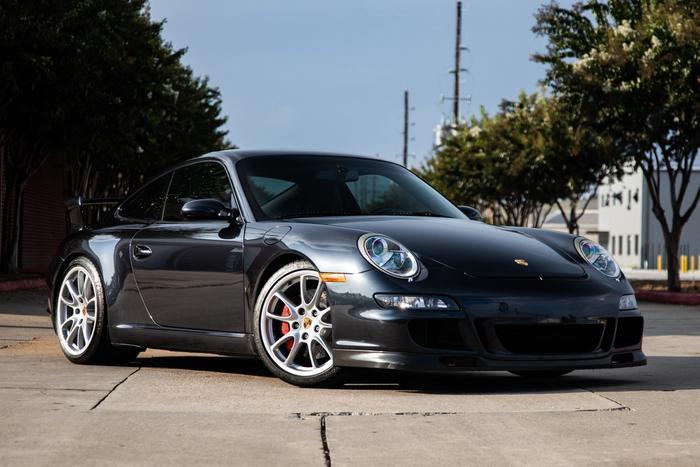 2007 Porsche 911 GT3 at Driven in Houston, TX, Front Passenger Side 3/4
