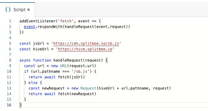 Paste in Cloudflare Worker proxy script