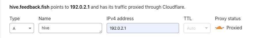 Create DNS record