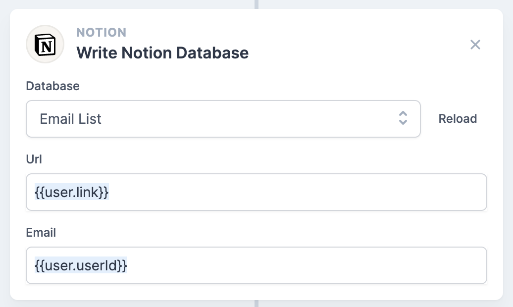 Example Notion Action
