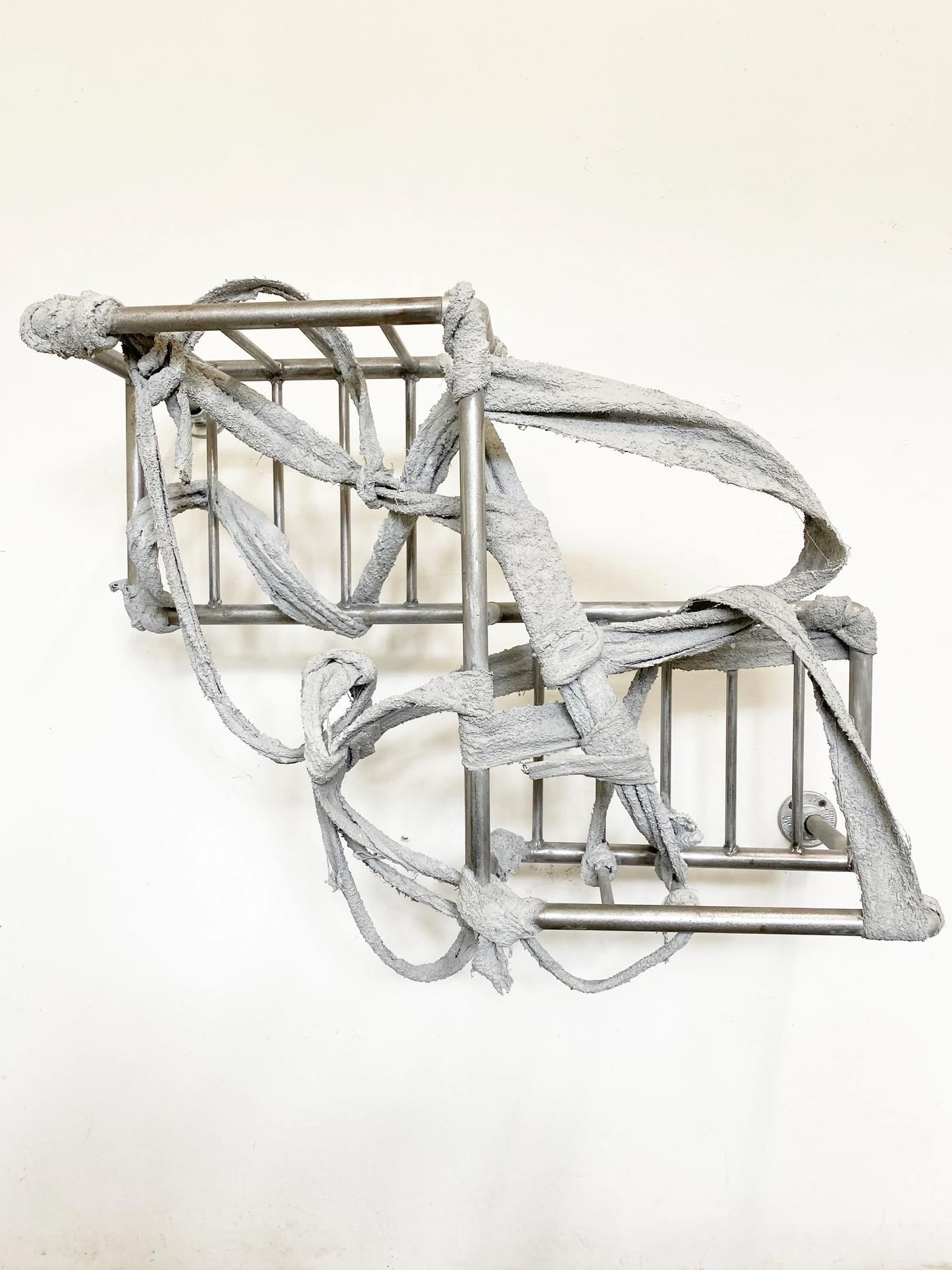 Image of RUINER III, 2020: Steel, towel, plaster