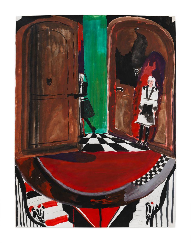 Emily Sundblad, Secrets, 2009. Gouache on paper, 24 x 18 in (61 x 45.7 cm).