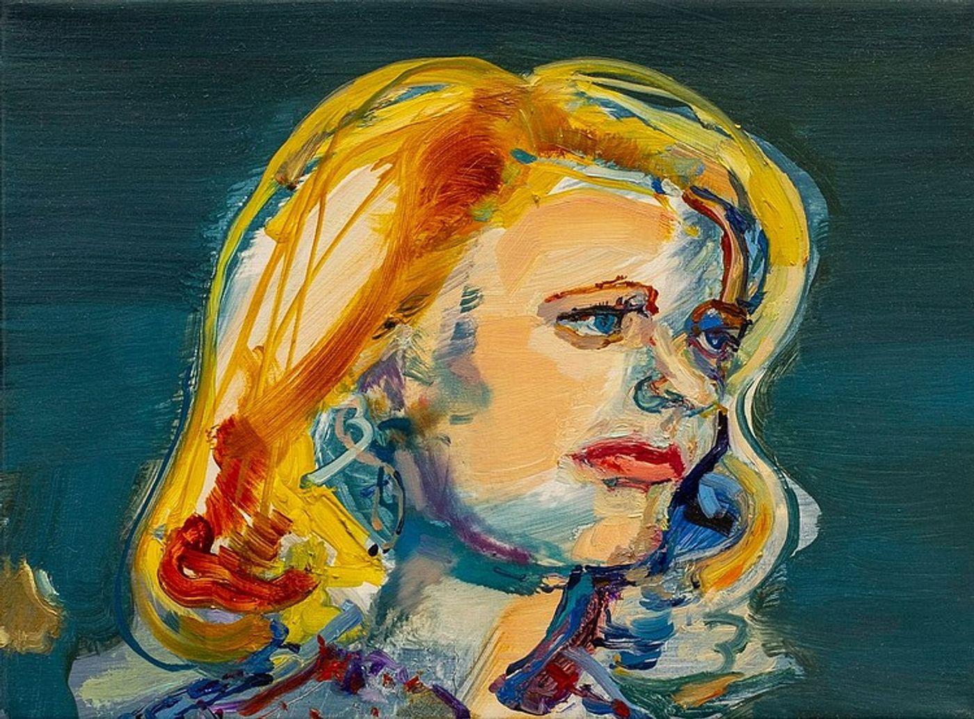 Angela Dufresne, Gena Rowlands, 2019. Oil on canvas, 9 x 12 in (23 x 30.5 cm).