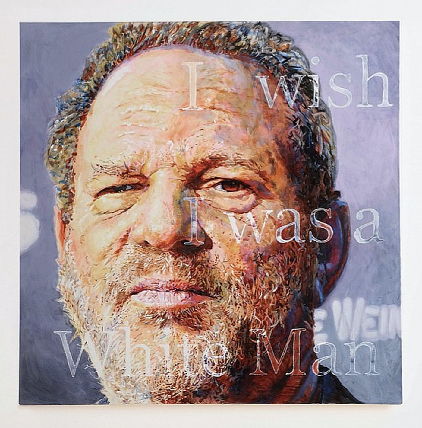 Christine Wang, Weinstein, 2018. Acrylic on canvas, 48 x 48 (121.9 x 121.9 cm).