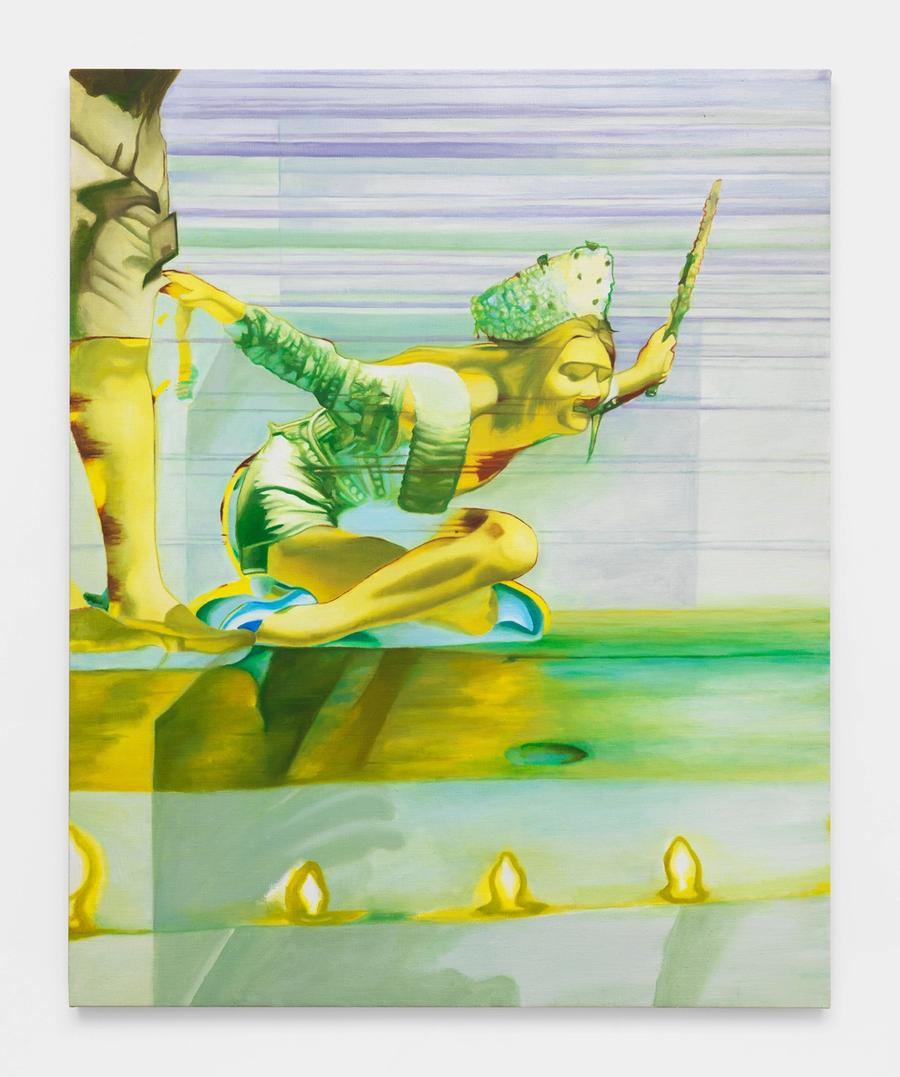 Marika Thunder, Cotillion #2, 2021. Oil on canvas, 42 x 34 in (106.7 x 86.4 cm).