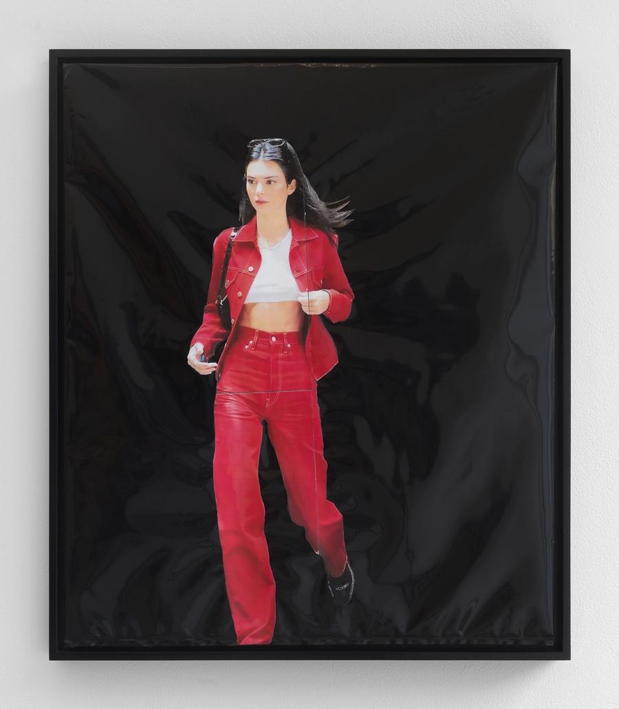 Matthew Tully Dugan, Necessary Evil, 2020. Laserprint on found Light Tight Safe-T-Bag, 24 x 18 in (61 x 45.7 cm).