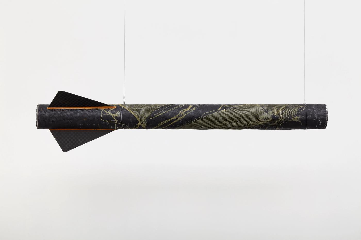 Image of Goldenrod Booster, 2021: Carbon fiber, Kevlar, resin
