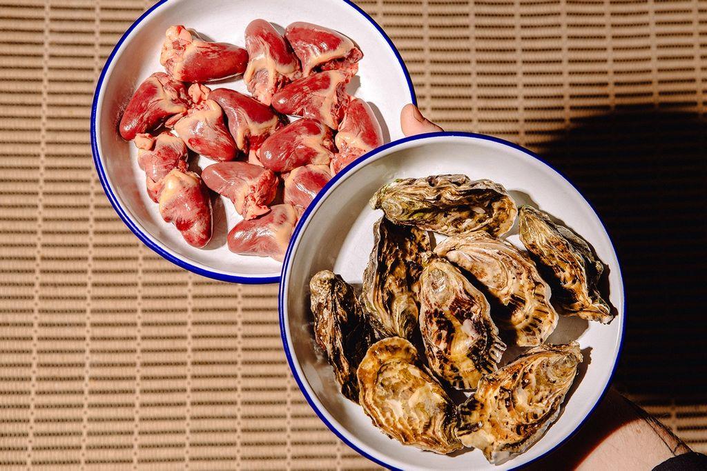 Hjerter og østers – du finner vel ikke mer passende på Valentine's-råvarer enn det!