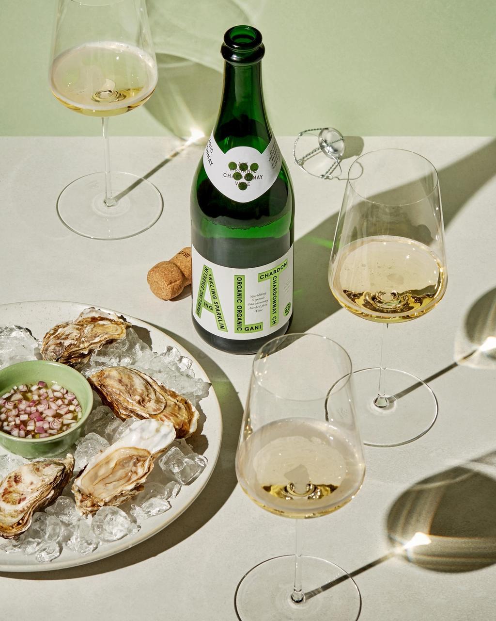 Prøv ALT. Sparkling Organic Chardonnay for eksempel til østers!