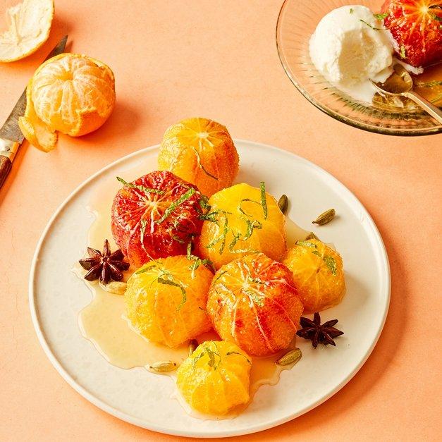 Lune klementiner og blodappelsiner
