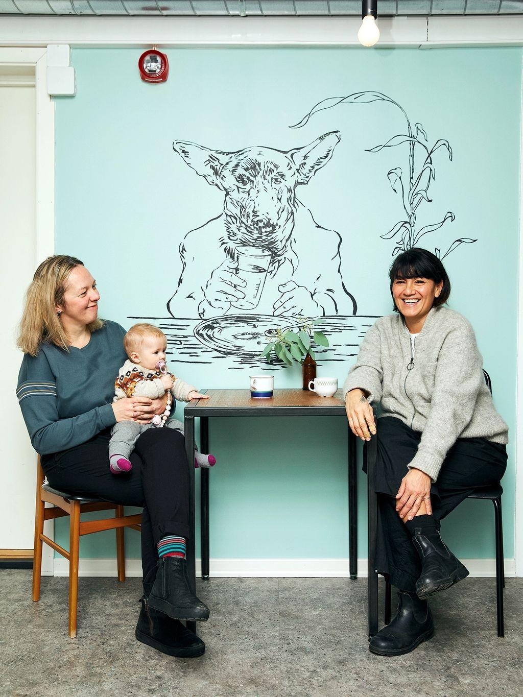 Verken korona eller barnefødsel kom i veien for bakeriåpningen til Laura Raubaite og Andrea Marambio.