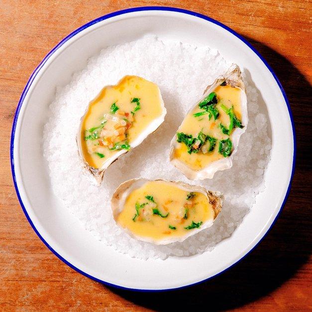 Gratinerte østers