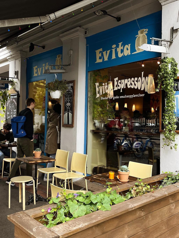 Evita Espressobar ligger ved Vaterlandsparken på Grønland.