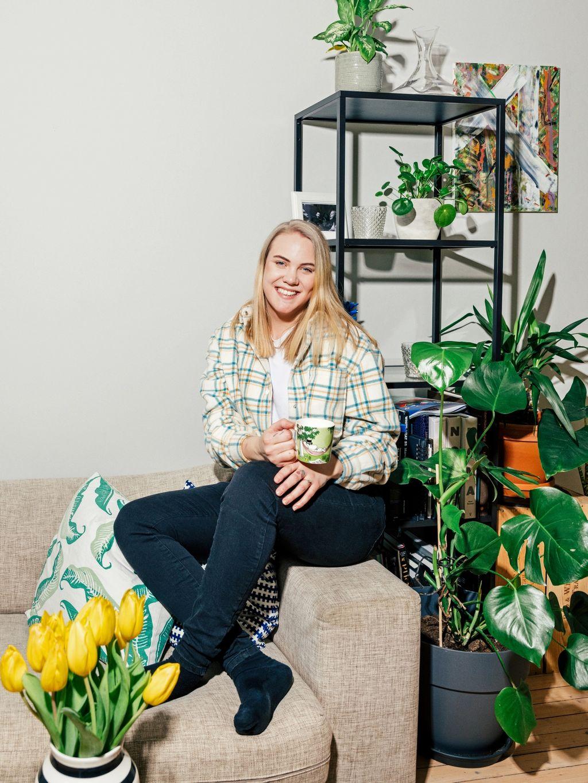 Hanne har nettopp flyttet inn med kjæresten Per Kristian, og har brukt en del lockdown-tid på å gi leiligheten en feminin touch.