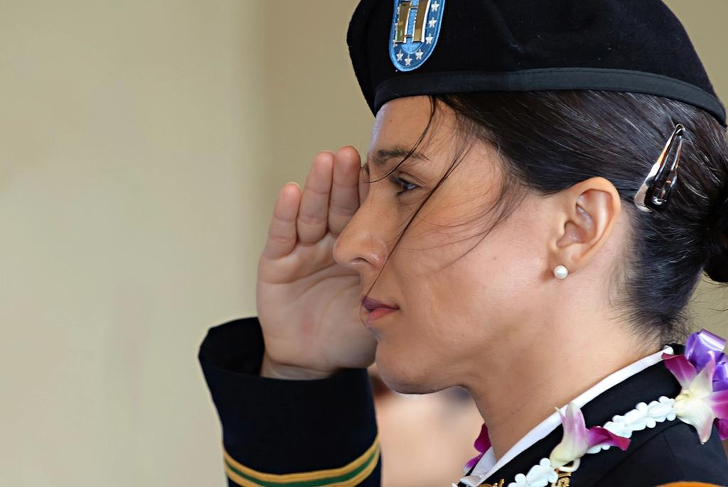 Tulsi in uniform.
