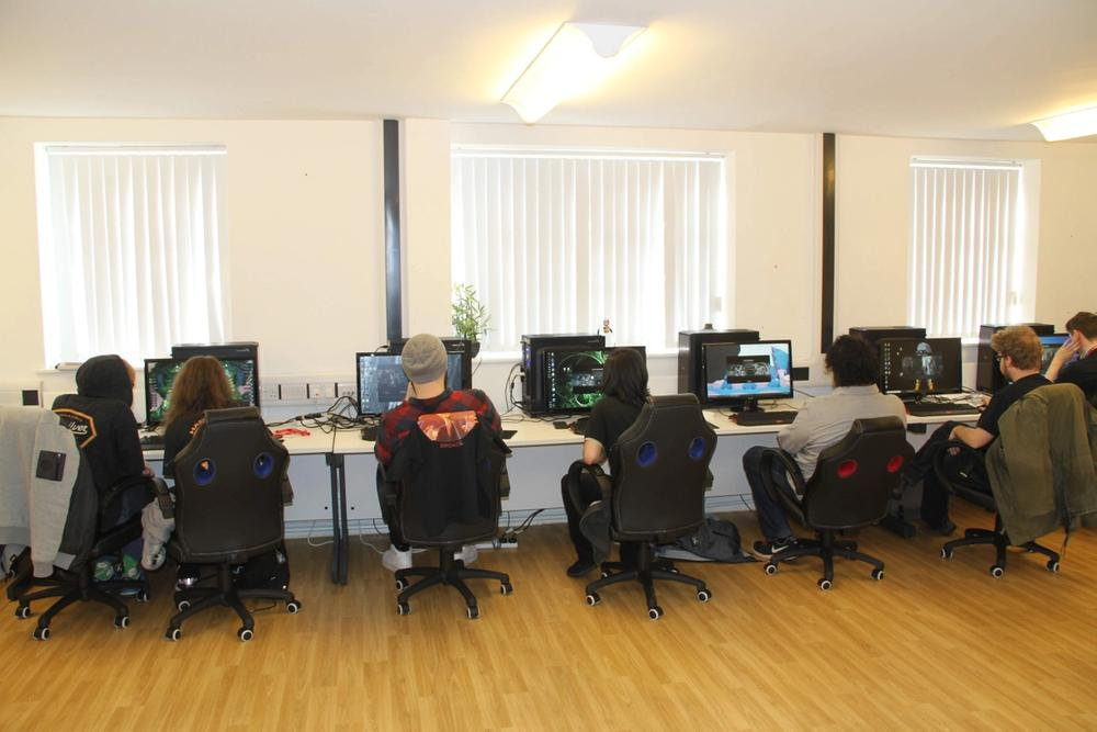 Inside the EOB Academy's venue Letchworth - a great environment for Game Design courses