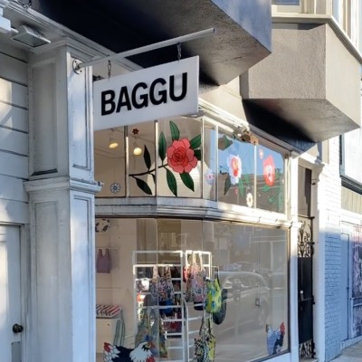 san francisco baggu storefront with baggu sign