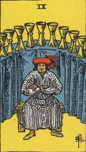 Nine of Cups Tarot Card