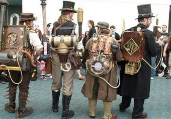 men with old world steam