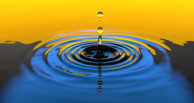 water droplet ripples