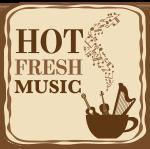 Hot fresh music logo badge