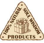 100% natural soul wisdom products triangle logo