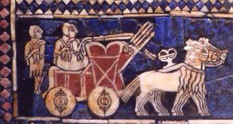 Sumerians horse pulling cart