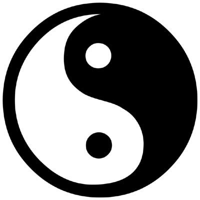 Large ying yang symbol
