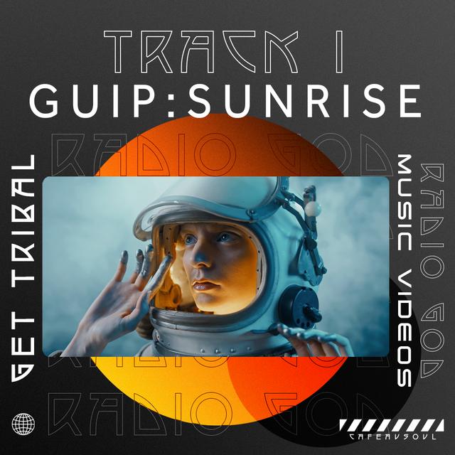 Radio God Album by Get Tribal Track One GUIP woman in space helmet