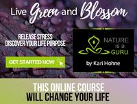 Live Green and Blossom Online Course Banner
