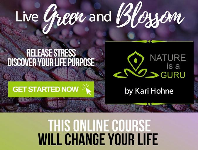 Live green and blossom nature is a guru course banner