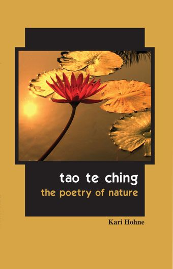 Tao te ching the poetry of nature book cover with lotus