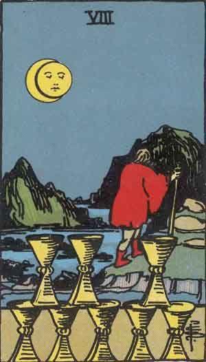 Eight of Cups Tarot Cards