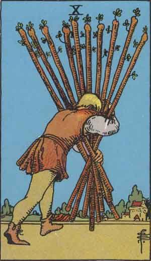 Ten of Wands Tarot Card