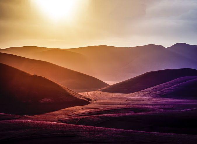 Desert landscape and hills