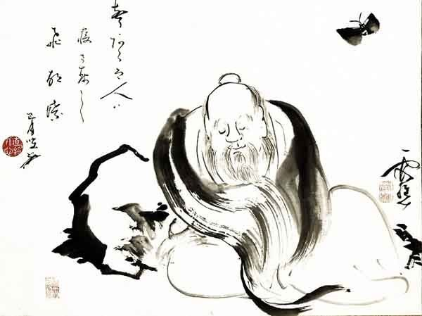 Chuang Tzu Chinese line drawing
