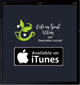 Ipad with I Ching app by Cafe au Soul