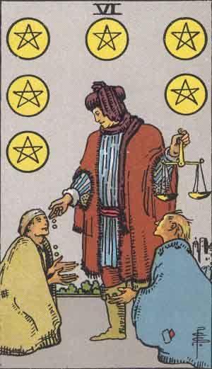 Six of Pentaces Tarot Card