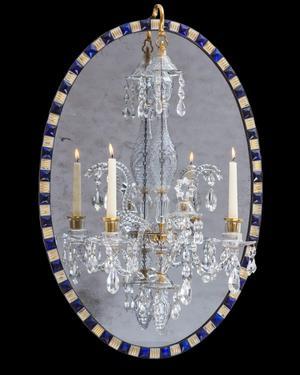 A George III Irish Oval Mirror Chandelier