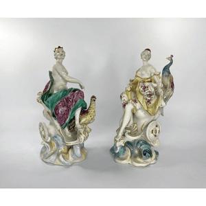 Pair Derby figures, Jupiter & Juno, c. 1760