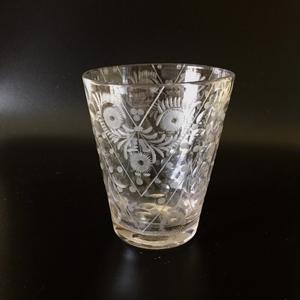 A Bohemian engraved beaker showing a style typical of the period 1725 to 1750