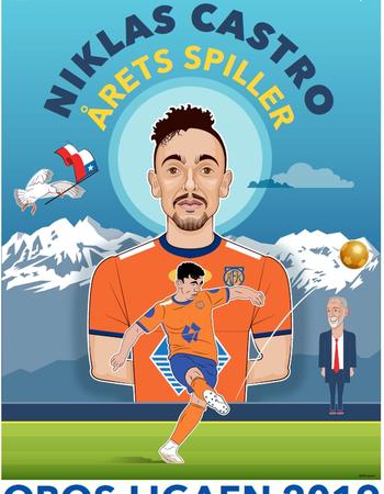 Illustrasjon av årets spiller 2019, Niklas Castro